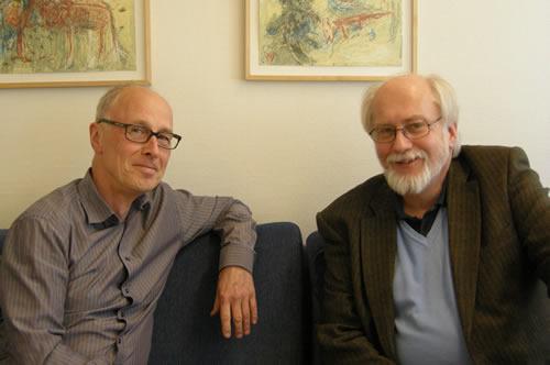 Docent Peder Rasmusen, professor Torsten Norlander